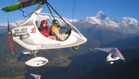 Ultra Light Aircraft Flight in Pokhara