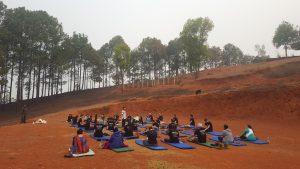 Yoga before starting day's work